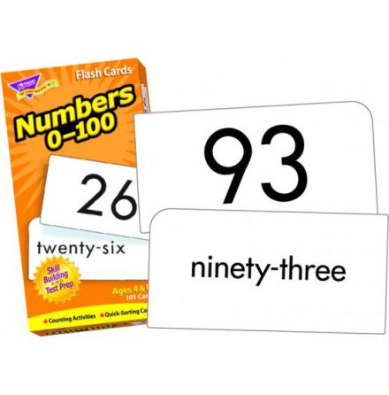Flash cards, numbers 1-100