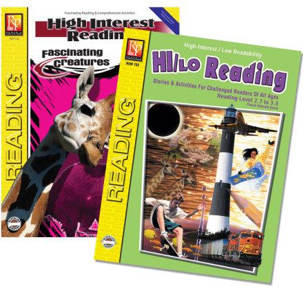 Hi/Lo Reading, green book + Fascinating Creatures, spara 20 kr.